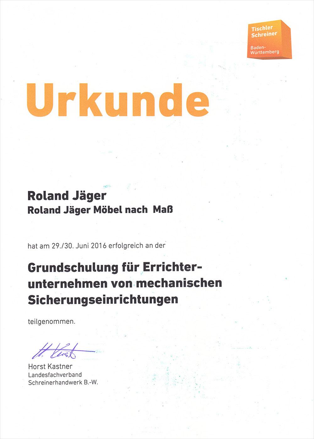 UrkundeSchreinerei JÄGER Freiburg
